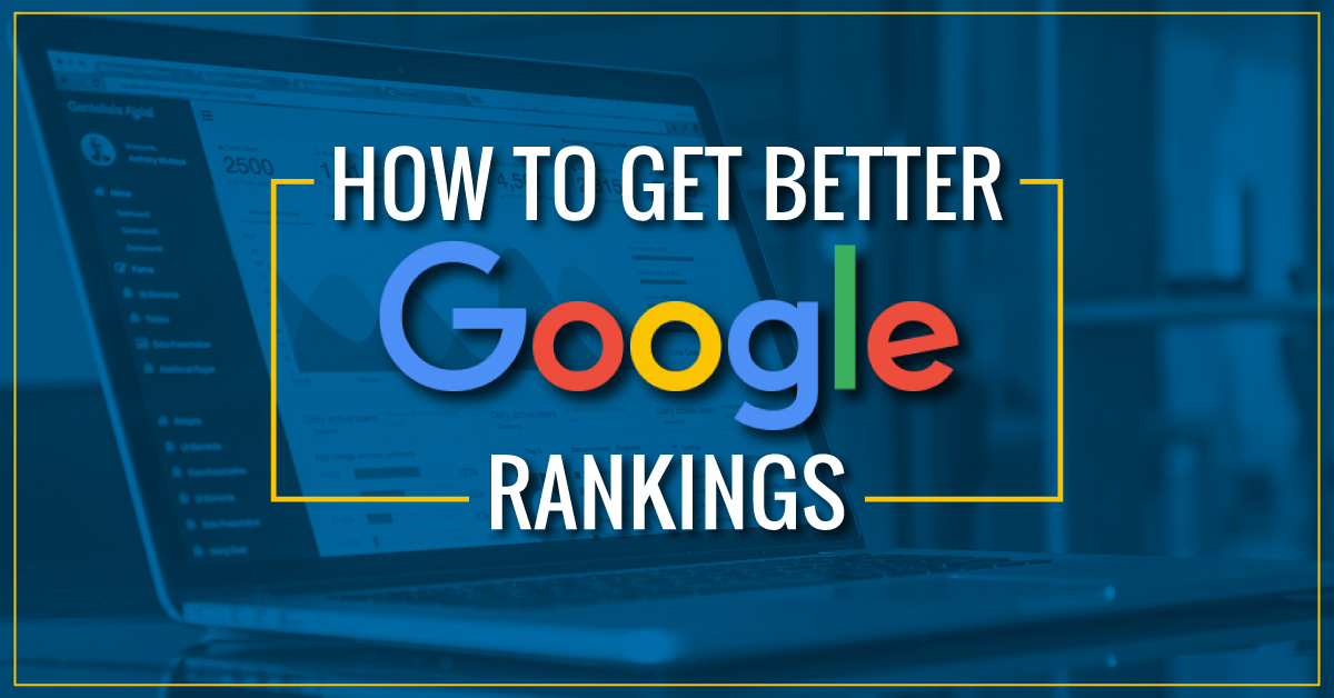 How to get better Google rankings graphic